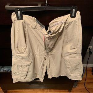 Under armor gold cargo shorts